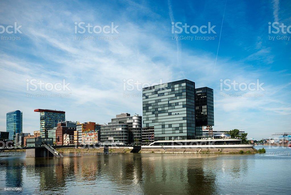 Modern architecture in Düsseldorf stock photo