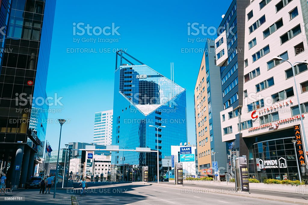 Modern Architecture In Estonian Capital, Tallinn, Estonia stock photo