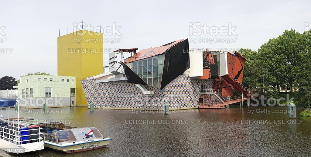 Modern architecture in Groningen, Netherlands stock photo