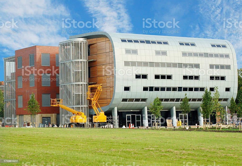 Modern Architecture in Leeds University royalty-free stock photo