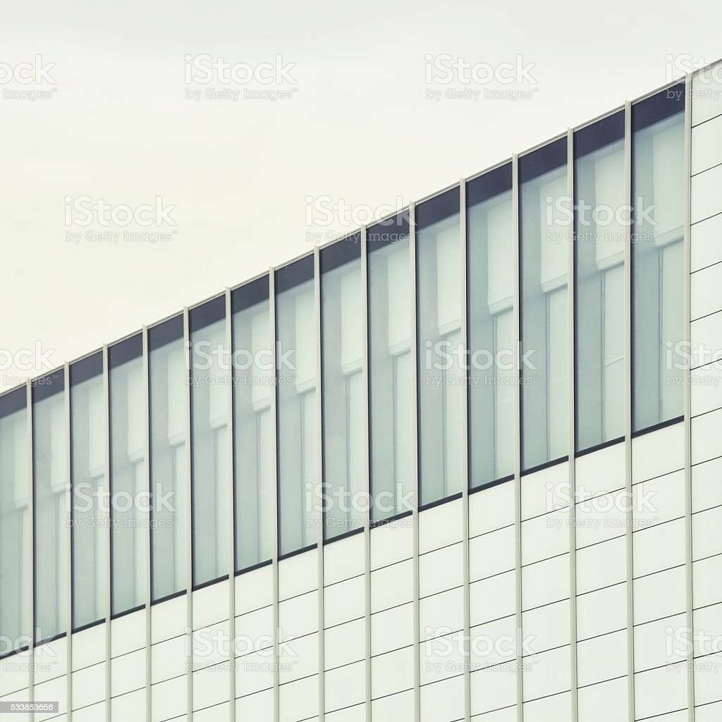 Modern architecture in Margate, England stock photo