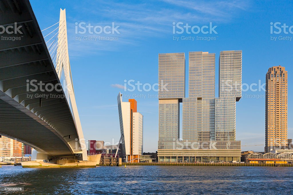 Modern Architecture in Rotterdam stock photo