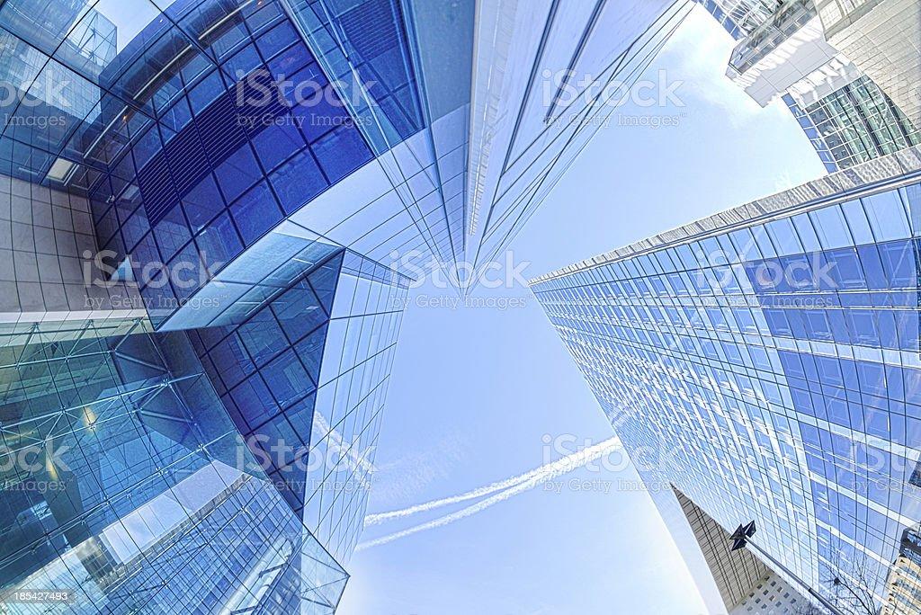 Modern architecture in the business district of La Defense, Pari stock photo