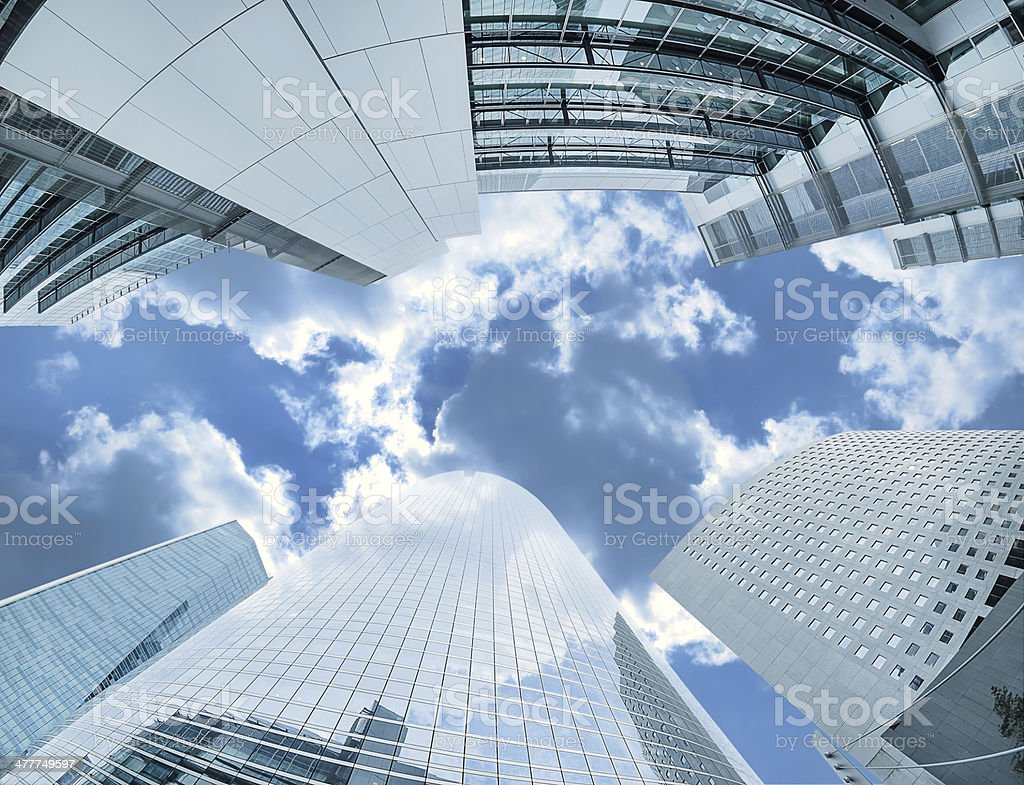Modern architecture in the business district of La Defense stock photo