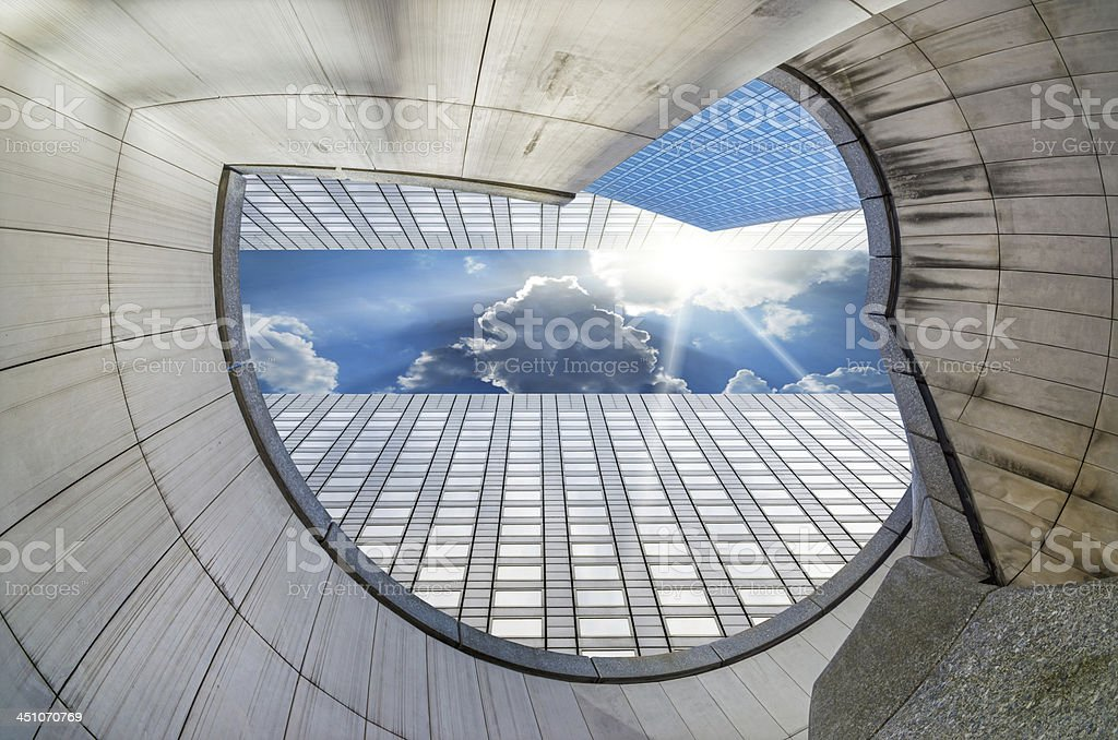 Modern architecture in the business district stock photo