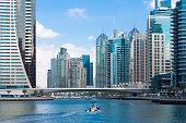 Modern architecture in the Marina District in Dubai