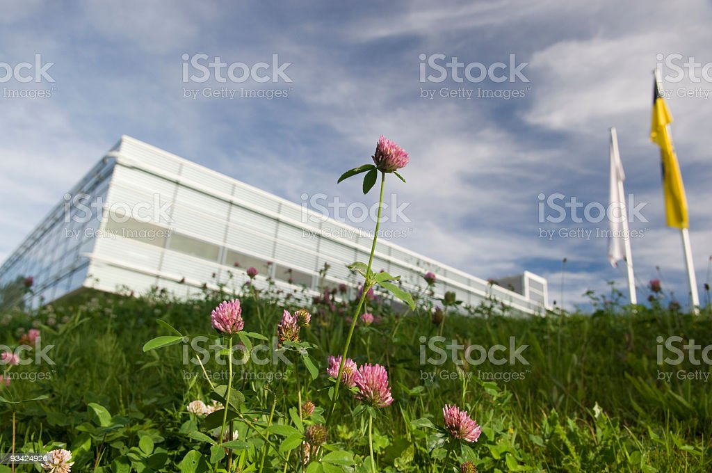 Modern Architecture in the Open Countryside stock photo