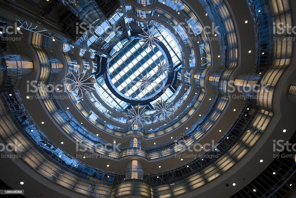 Modern Architecture indoors royalty-free stock photo