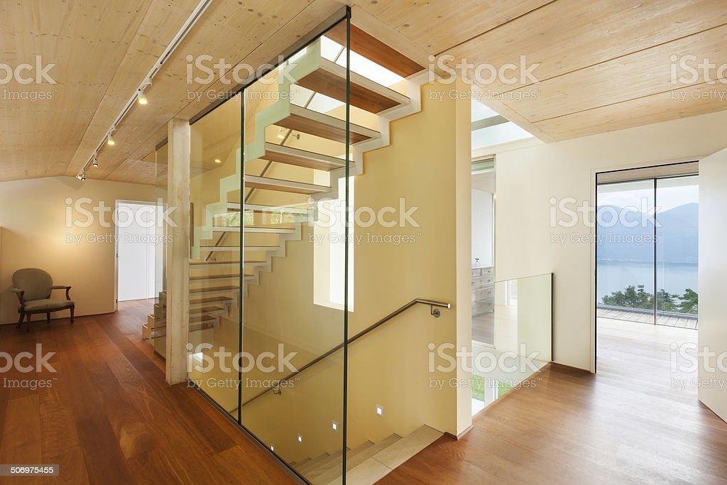 modern architecture, interior, staircase stock photo