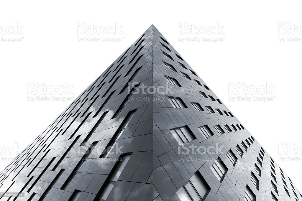 Modern architecture isolated on white stock photo