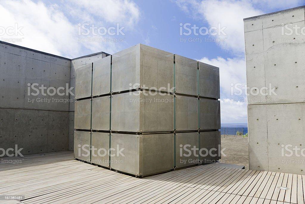 Modern Architecture Lighthouse Cube stock photo