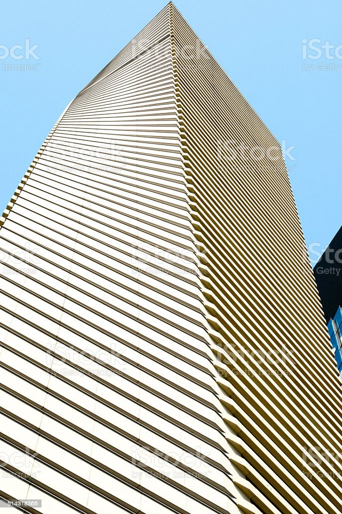 Modern Architecture. Modern Building in Asakusa, Tokyo. stock photo