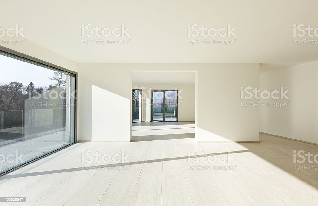modern architecture, new empty apartment royalty-free stock photo
