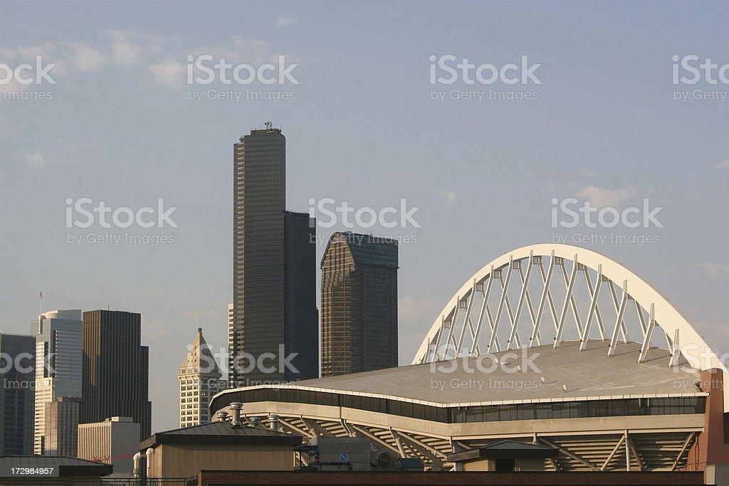 Modern Architecture Of Seattle Washington stock photo