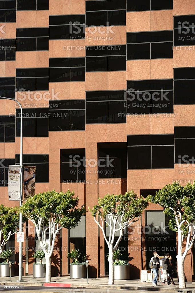 Modern architecture on Wilshire Boulevard stock photo