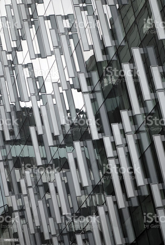 Modern architecture reflections royalty-free stock photo