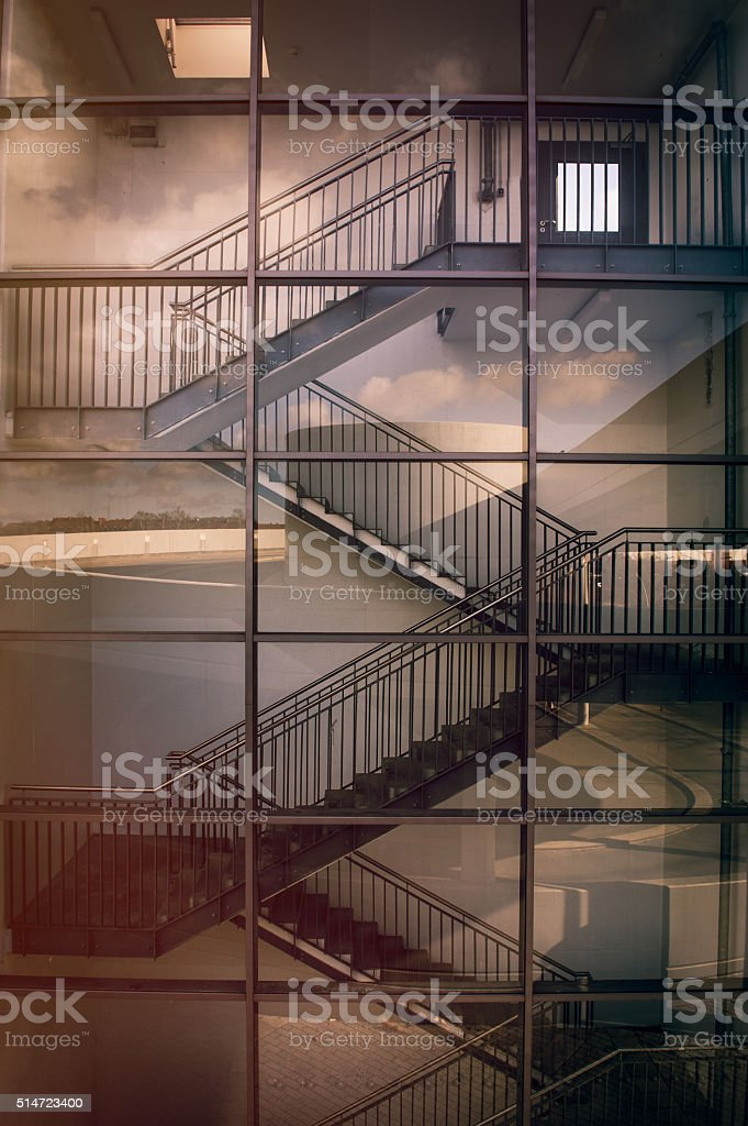 Modern architecture staircase stock photo