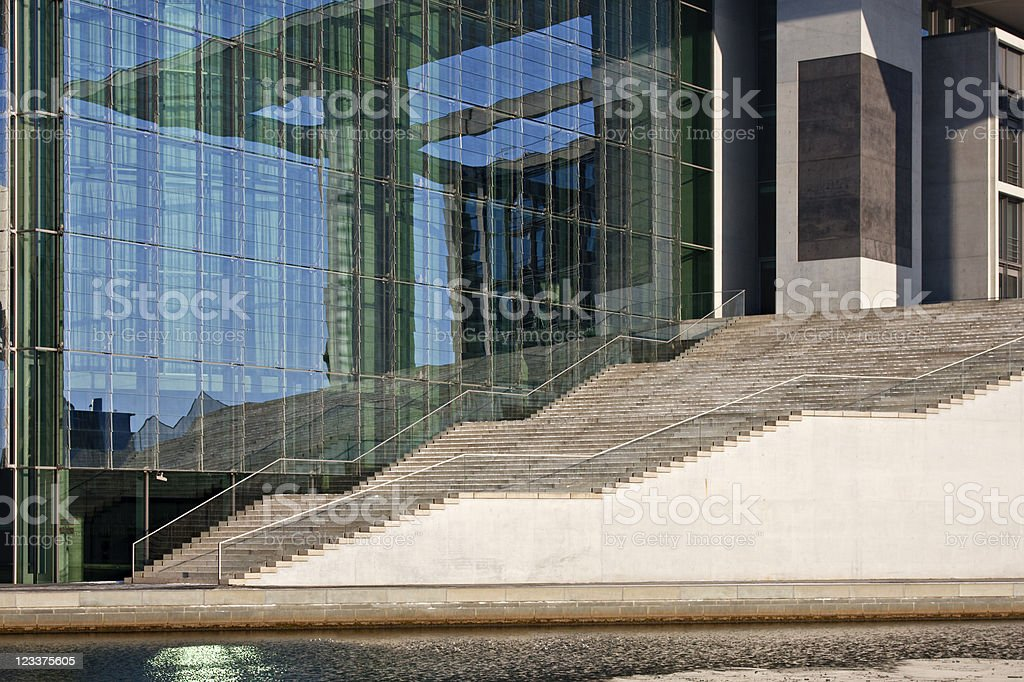 Modern Architecture Stairway royalty-free stock photo