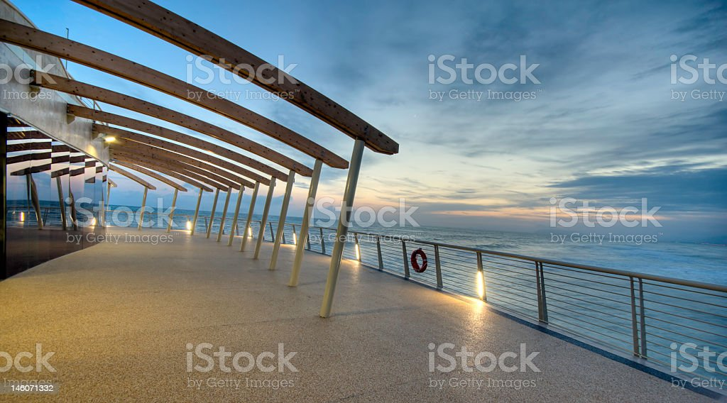 A modern architecture structure near the water royalty-free stock photo