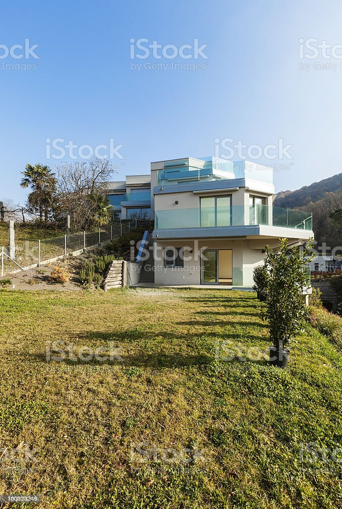 modern architecture, view from the ground royalty-free stock photo