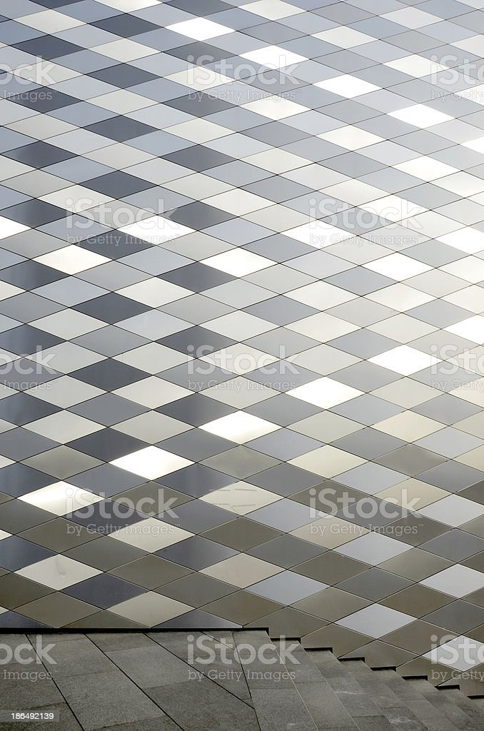 modern architecture wall background with staircase stock photo