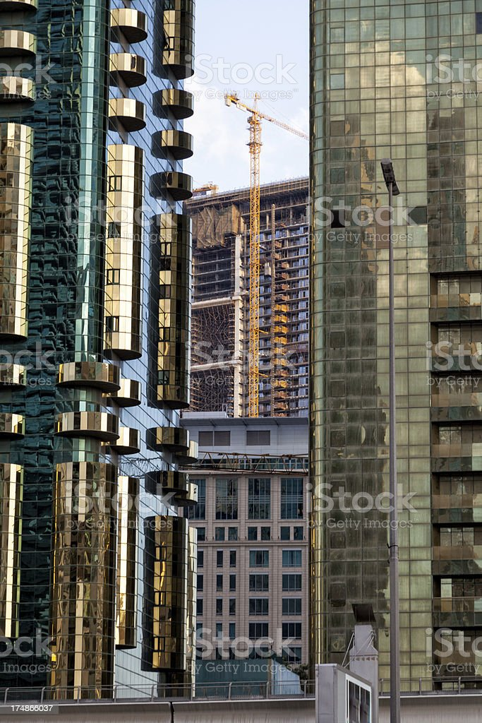 Modern Architecture with construction site. stock photo