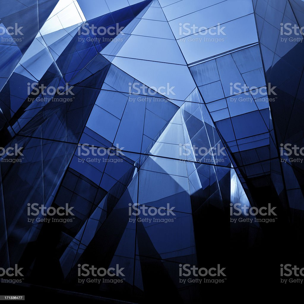 Modern Architecture with Glass royalty-free stock photo