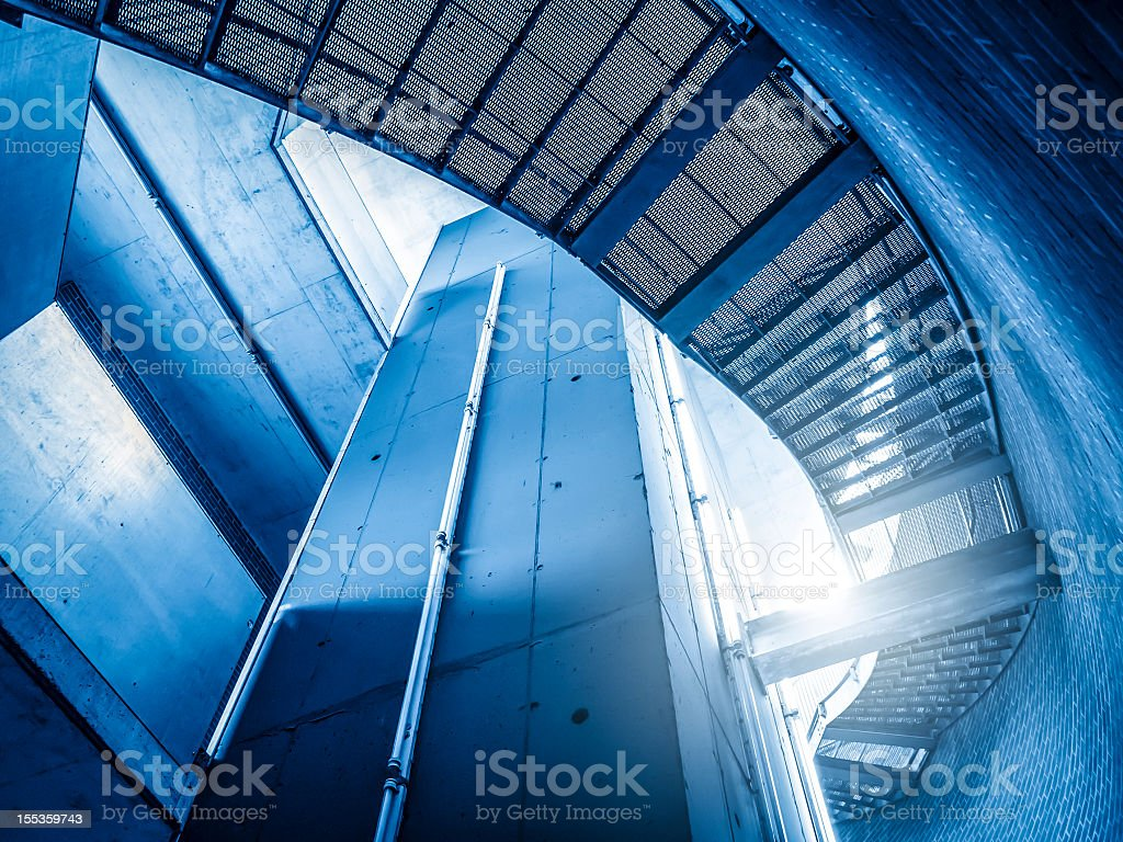 Modern Architecture With Steel Staircase royalty-free stock photo