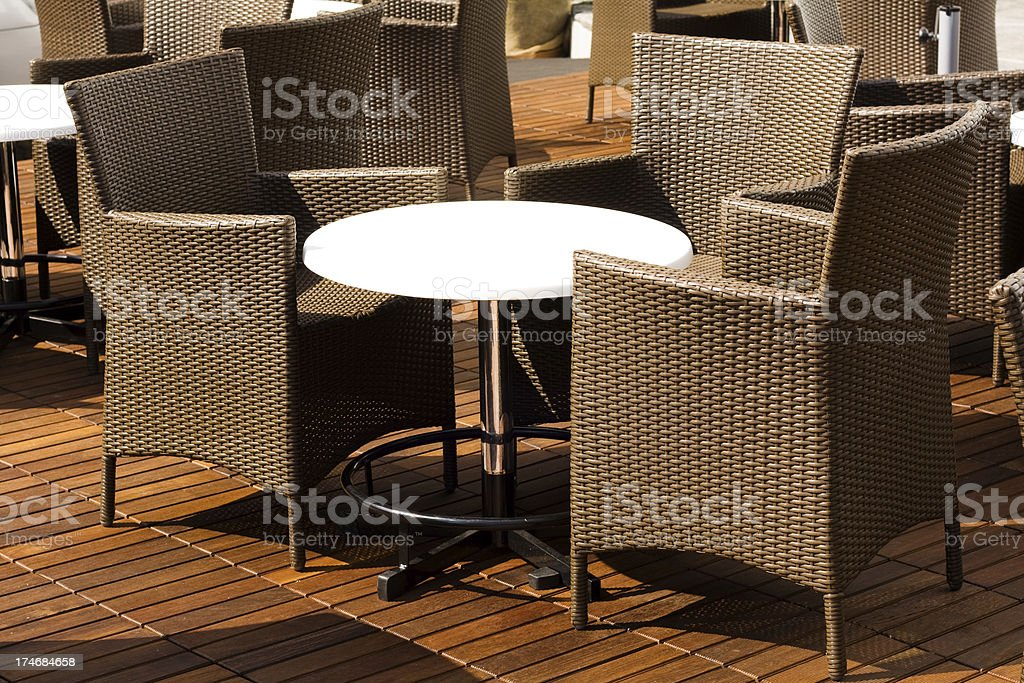 Modern Arm Chairs around a table royalty-free stock photo