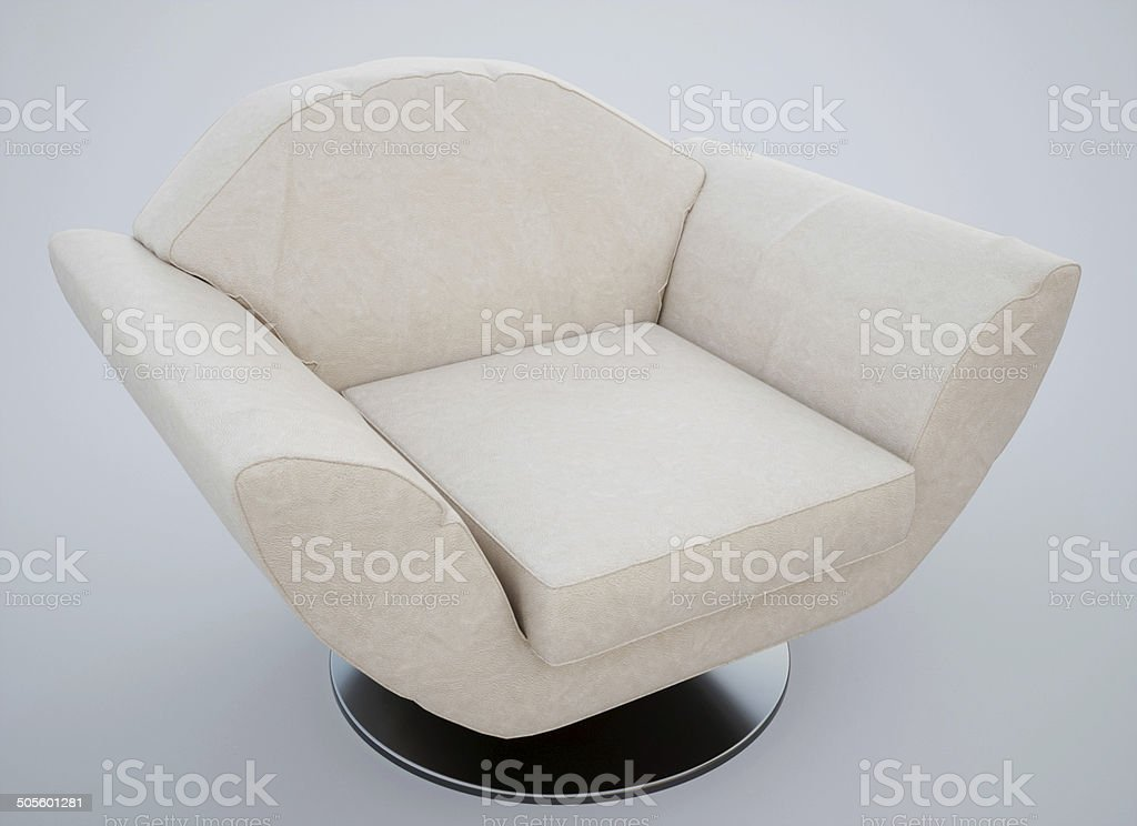 Modern armchair - isolated royalty-free stock photo