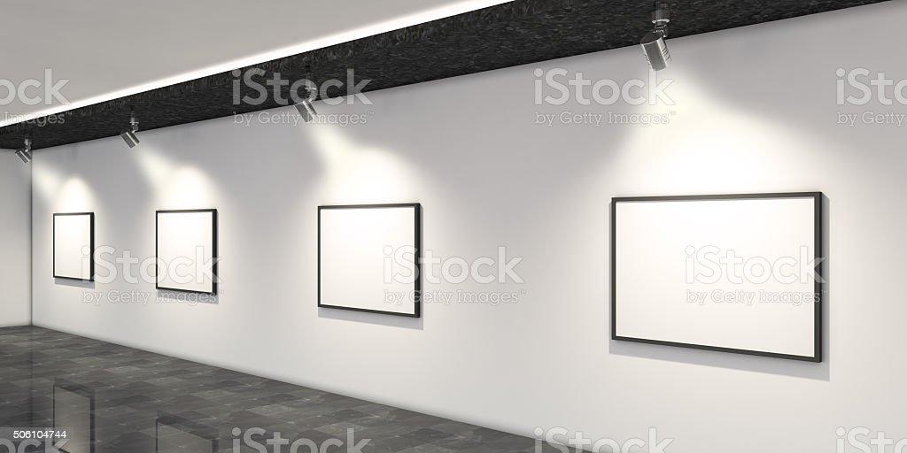 Modern Art Museum Interior Design stock photo