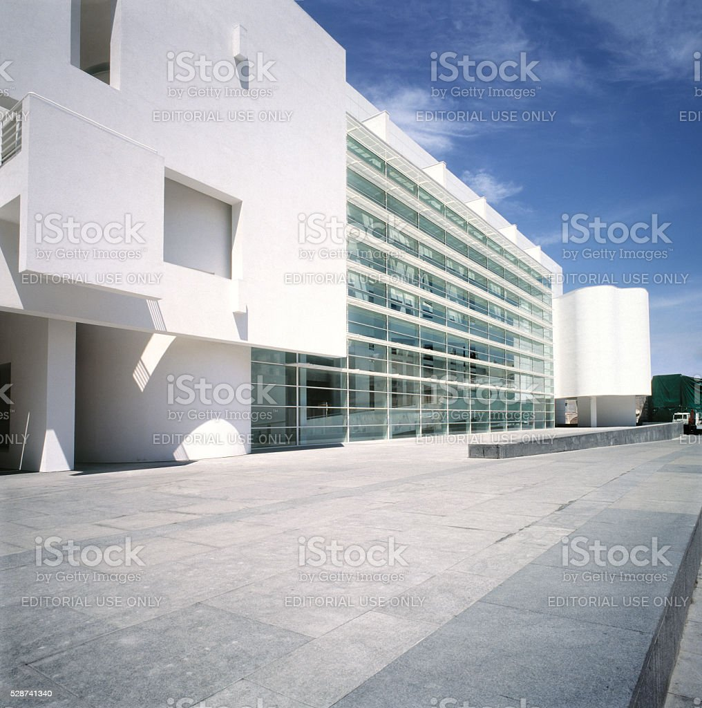 Modern Art Museum of Barcelona. Macba museum. Barcelona,Spain. stock photo