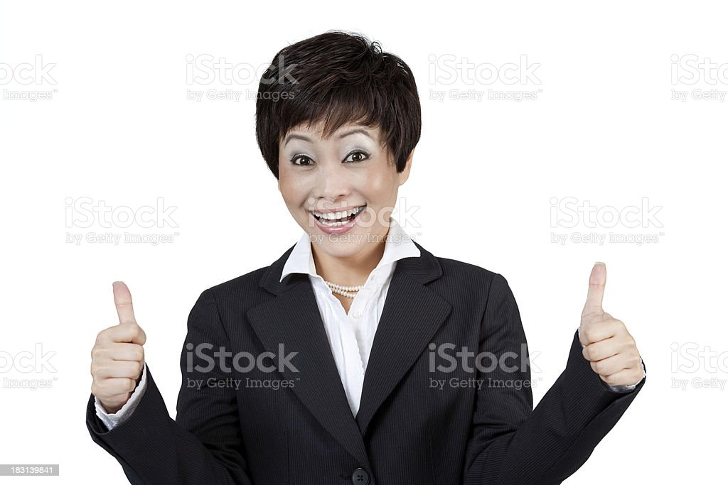 Modern Asian Businesswoman royalty-free stock photo