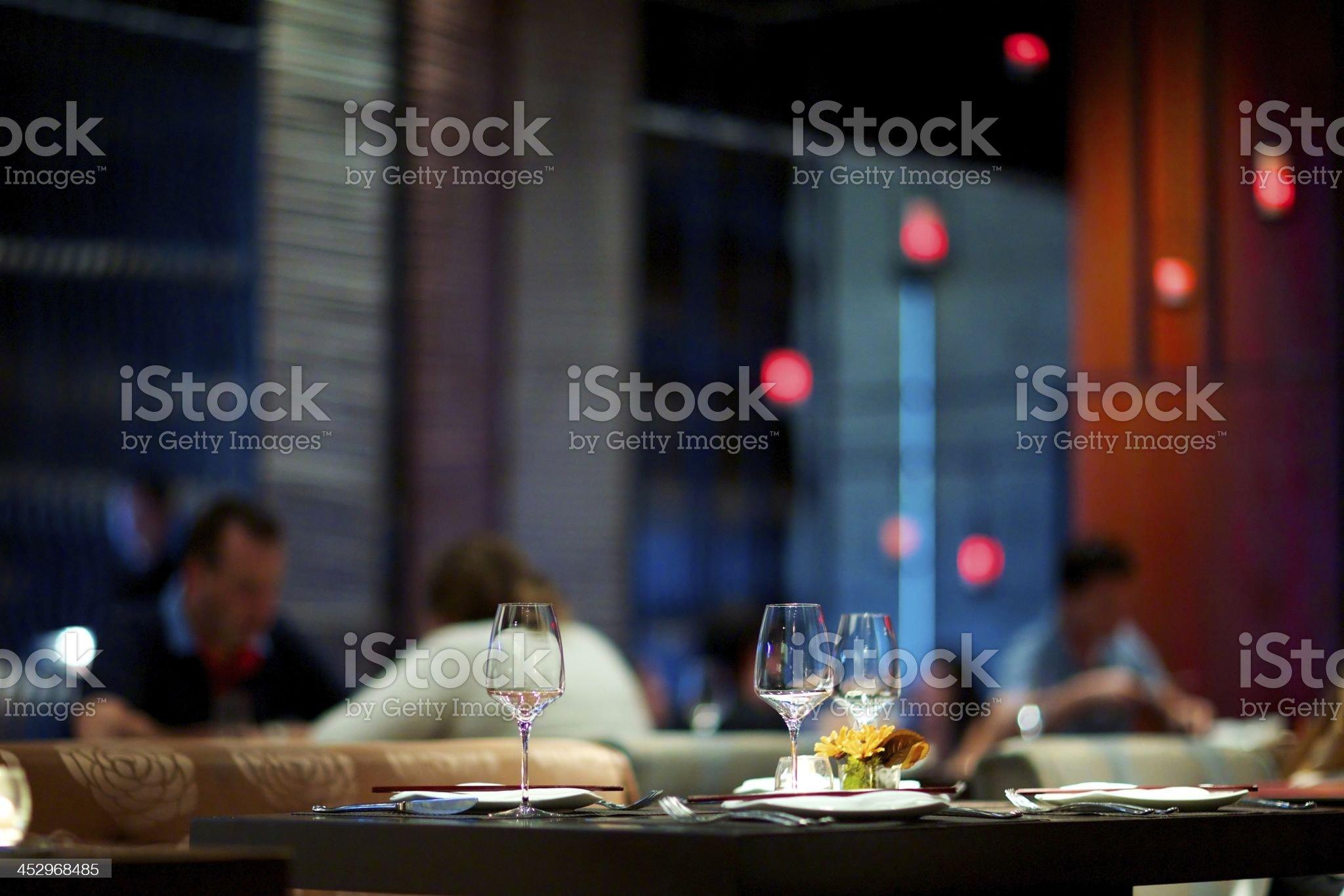 Modern Asian Restaurant royalty-free stock photo