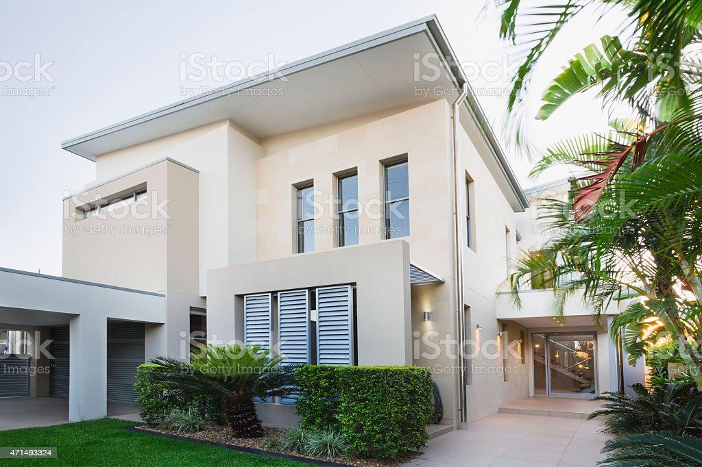 Modern Australian Home stock photo