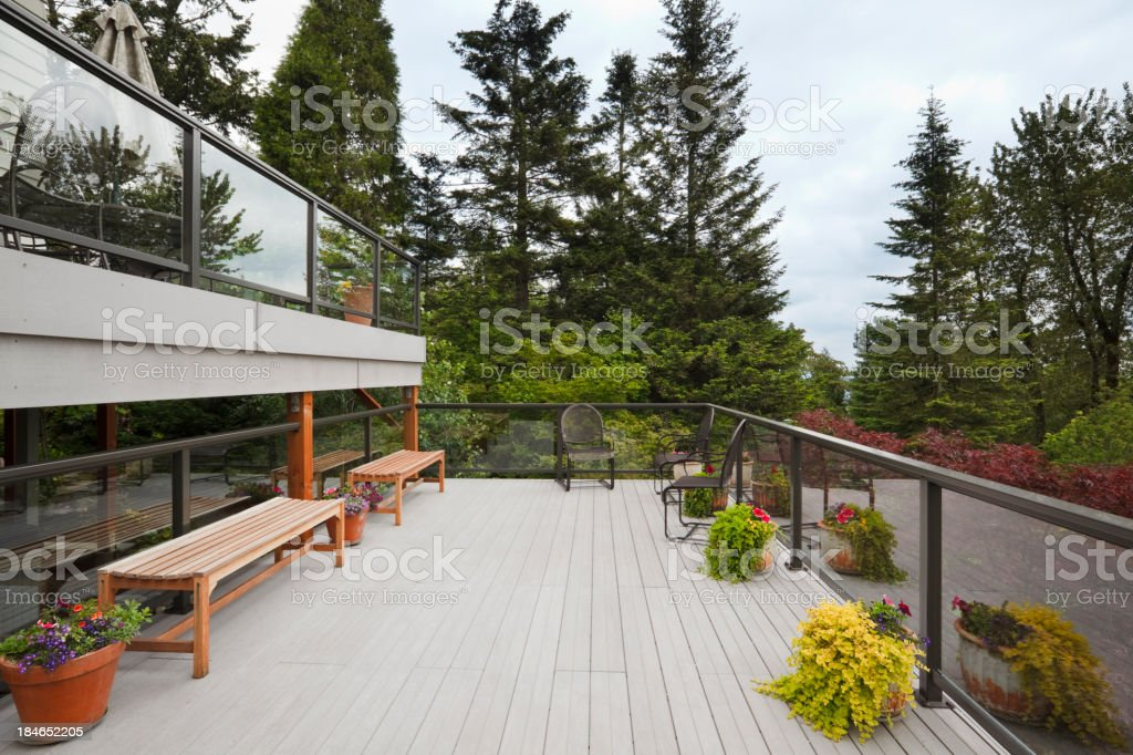Modern Back Deck royalty-free stock photo