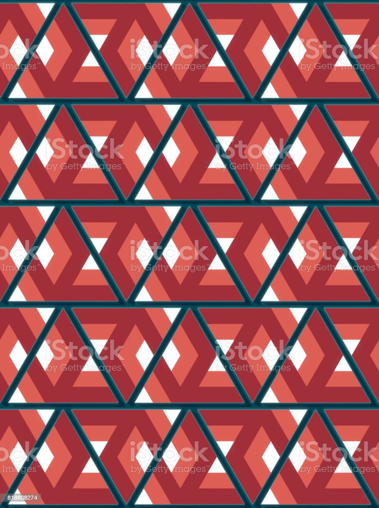 Modern background with cool triangular shapes pattern 3d rendering stock photo