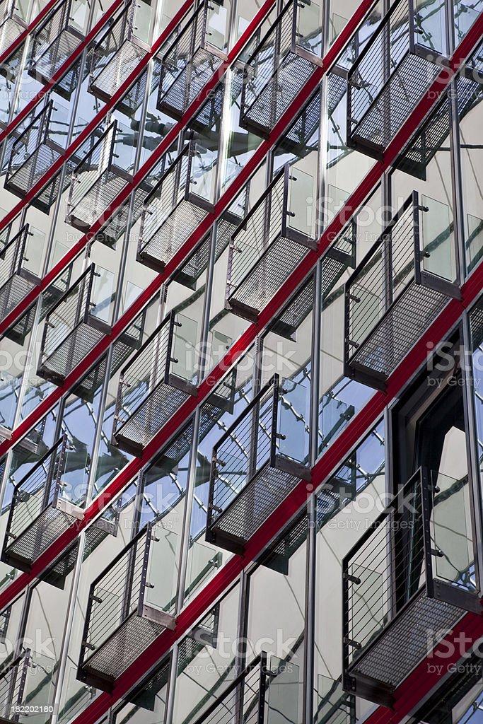 Modern balconies royalty-free stock photo