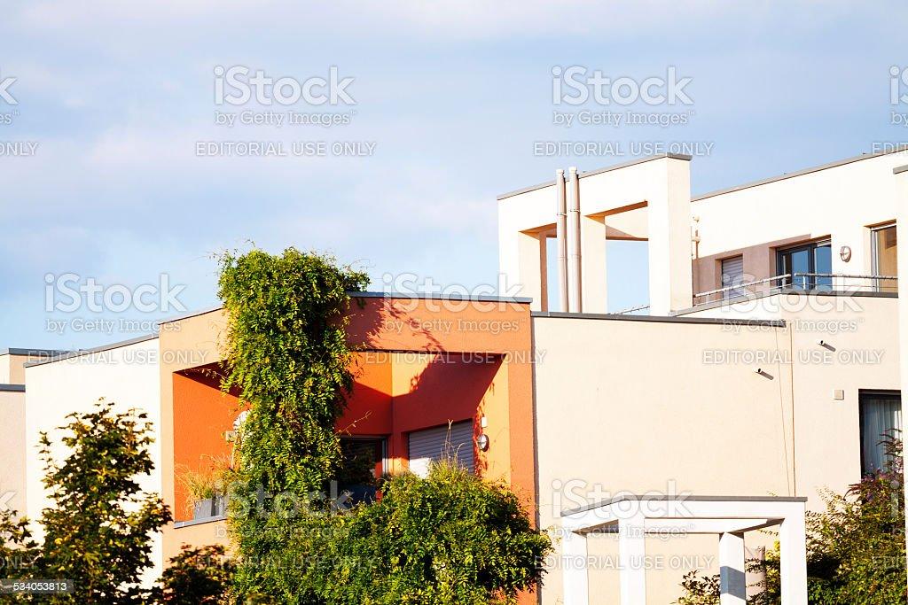 Modern balconies stock photo
