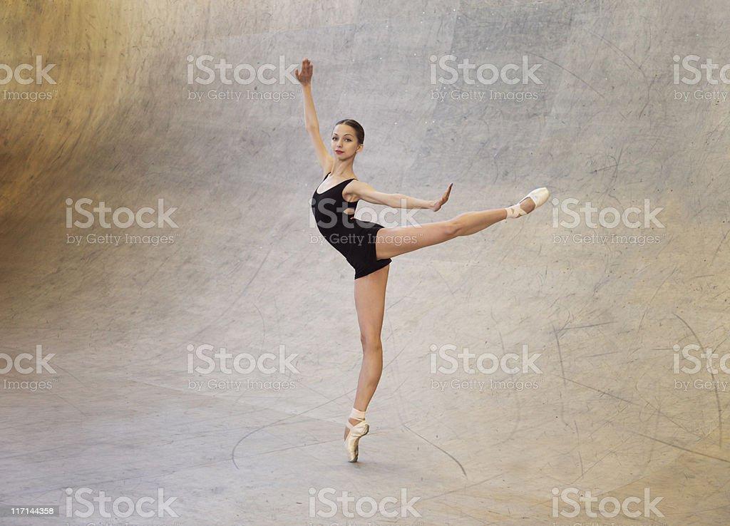 Modern ballet dancer stock photo