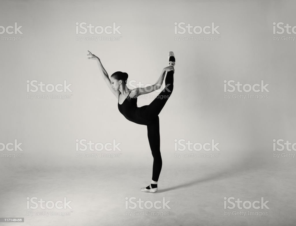 Modern ballet dancer royalty-free stock photo
