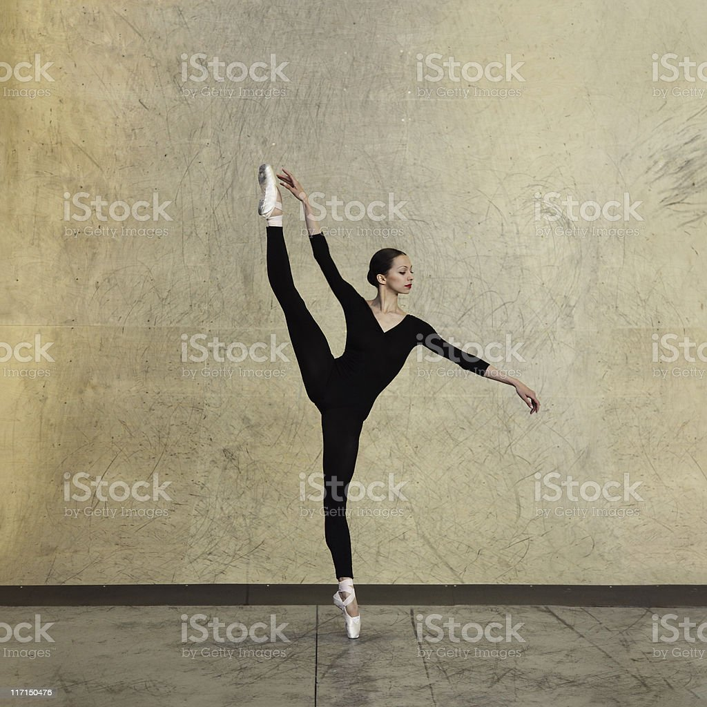 Modern ballet dancer royalty-free stock photo