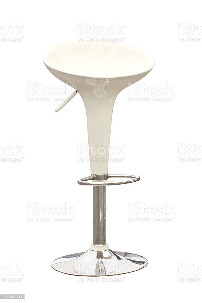 Modern bar chair isolated on white. royalty-free stock photo