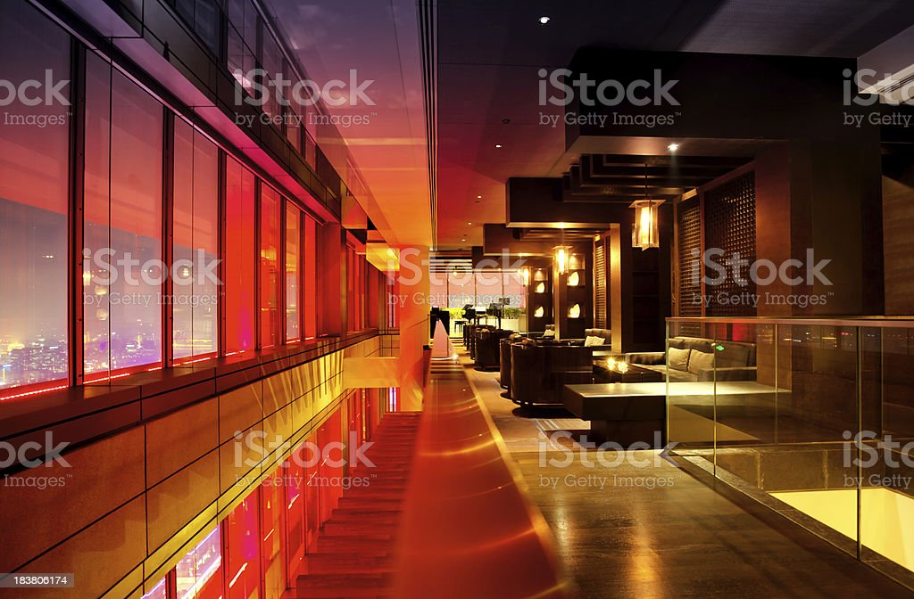 Modern Bar Lounge royalty-free stock photo