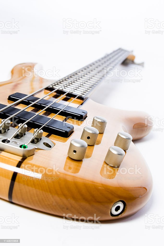 Modern bass guitar royalty-free stock photo