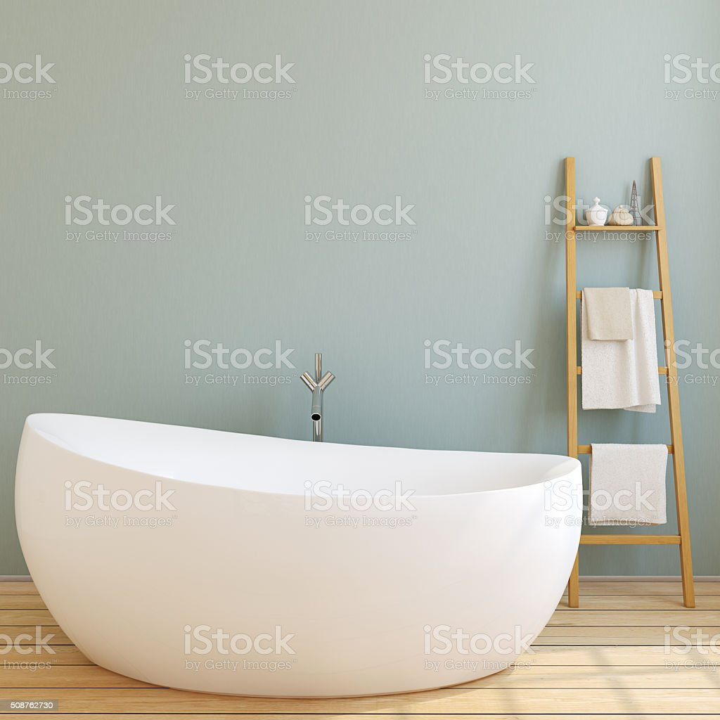 Modern bathroom. 3d rendering. stock photo