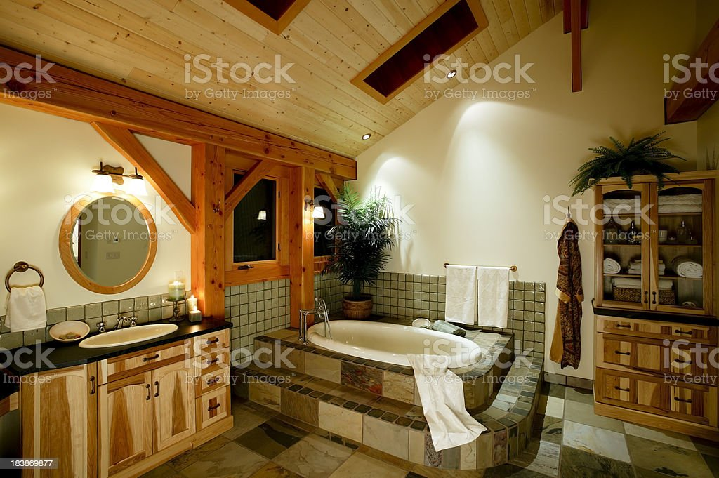 modern bathroom bathtub stock photo