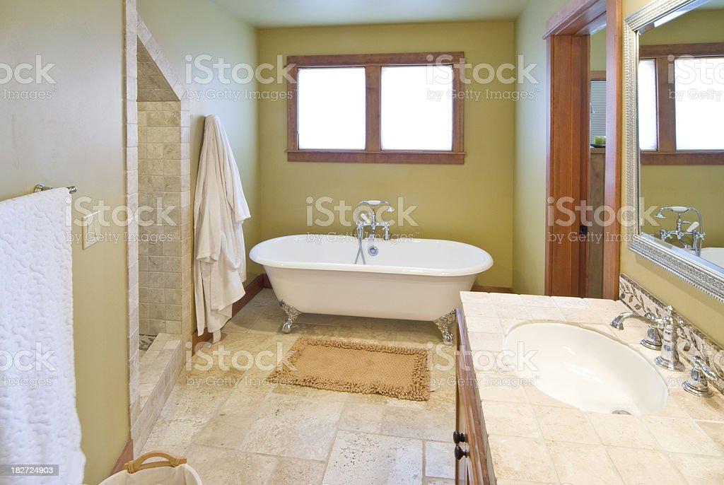 Modern bathroom claw foot bathtub royalty-free stock photo