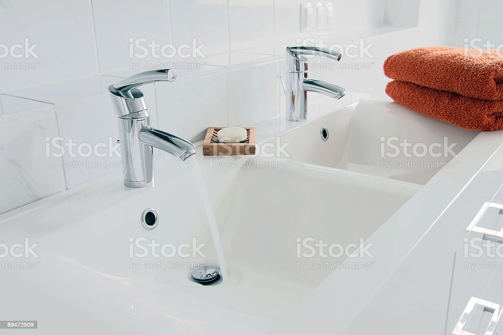 Modern Bathroom Close-Up royalty-free stock photo