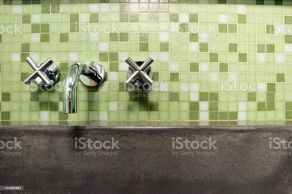 modern bathroom faucet royalty-free stock photo